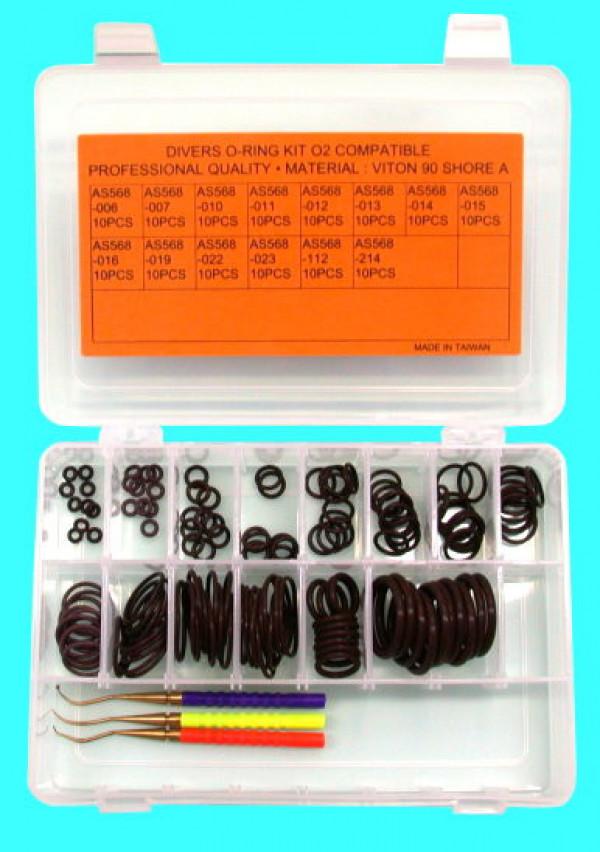 140 Pieces Viton - 14 Sizes / VITON O-Ring Kit w/ Brass Picks - Product Image