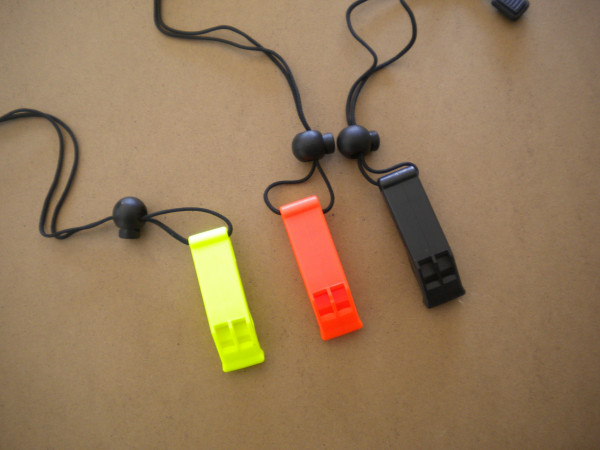 """Marine Whistle with Lanyard """"Black"""" - Product Image"""