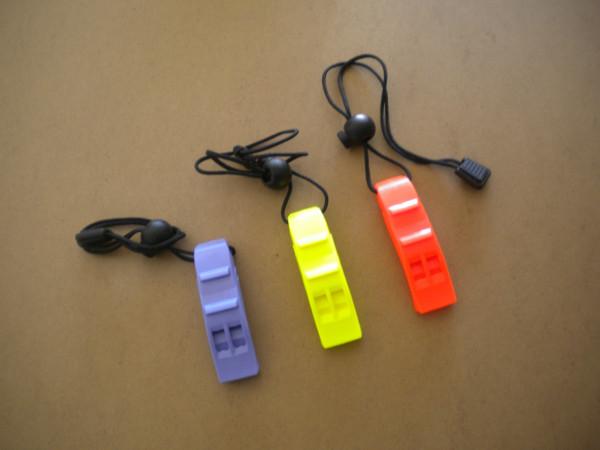"Deluxe Dual Tone Marine Whistle with Lanyard ""Orange"" - Product Image"