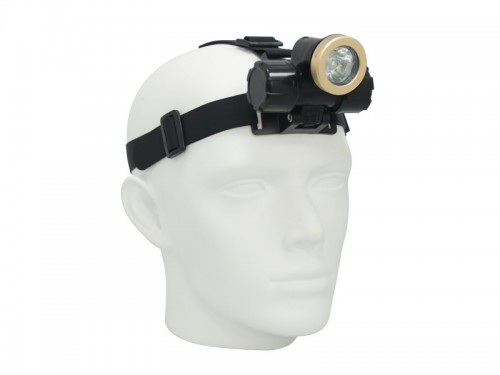 Big Blue Head Lamp Wide 450 w/ Glove, Batteries & Tail Switch! - Product Image