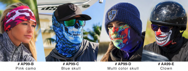 "Full Face Shield "" Blue Skull Design"" 2 left right now! - Product Image"