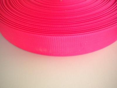 "2 Inch Nylon Webbing  Neon Pink ""Stiffer Version"" - Product Image"