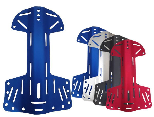 "Aluminium Dog Bone Style Lightweight Backplate ""Color: Red""  - Product Image"