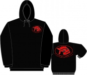 Black 9.3oz Hooded Sweatshirt w/front pouch  LARGE - Product Image