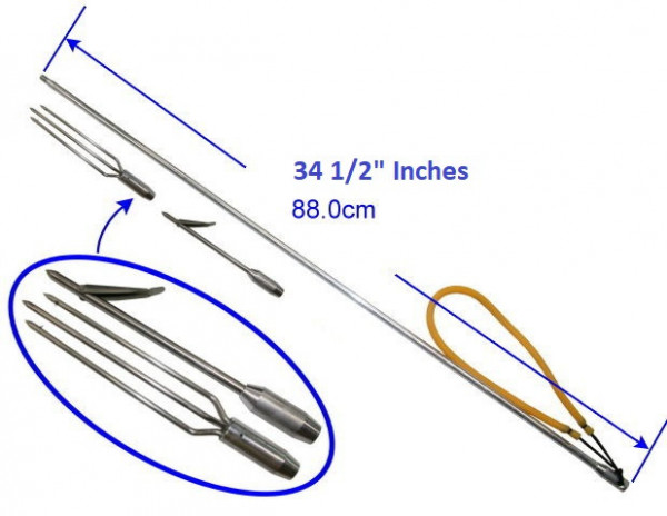 """New! 34 1/2"""" Aluminum Pole Spear w/ 2 Tips Included uses a 6mm thread  - Product Image"""