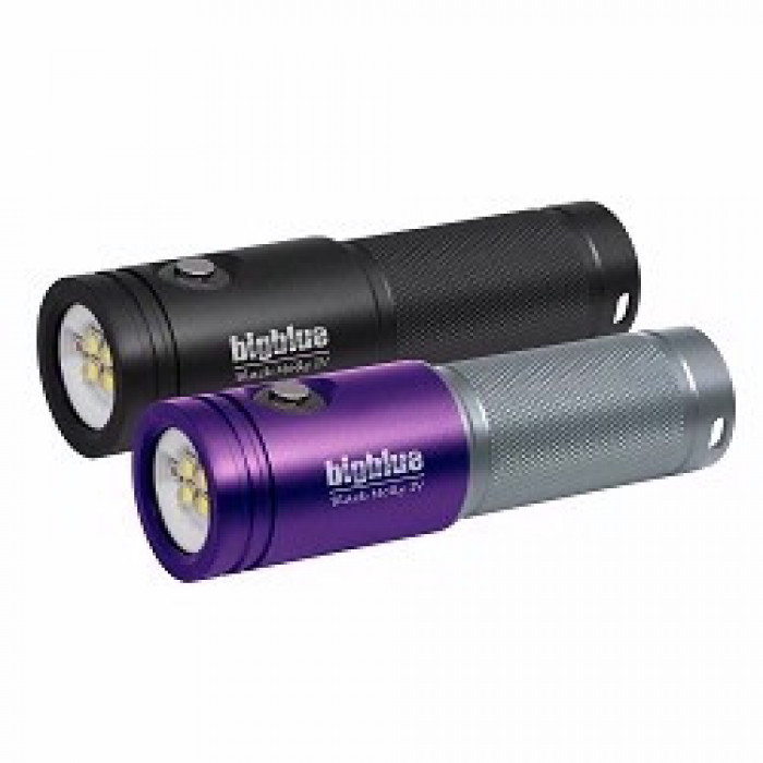 """Big Blue 1800 Extra-Wide Beam LED Dive Light """"Purple / Silver Body Light Only"""" - Product Image"""