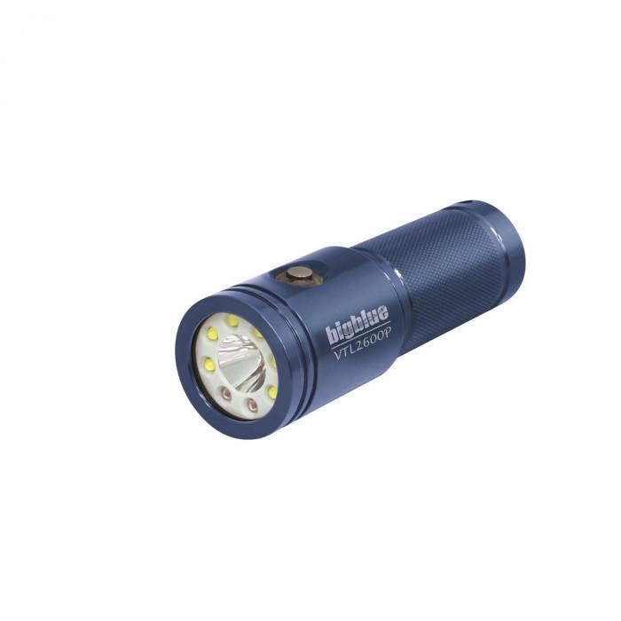 "Big Blue VTL2600P LED Dive Light Dual Beam  ""Blue body"" - Product Image"