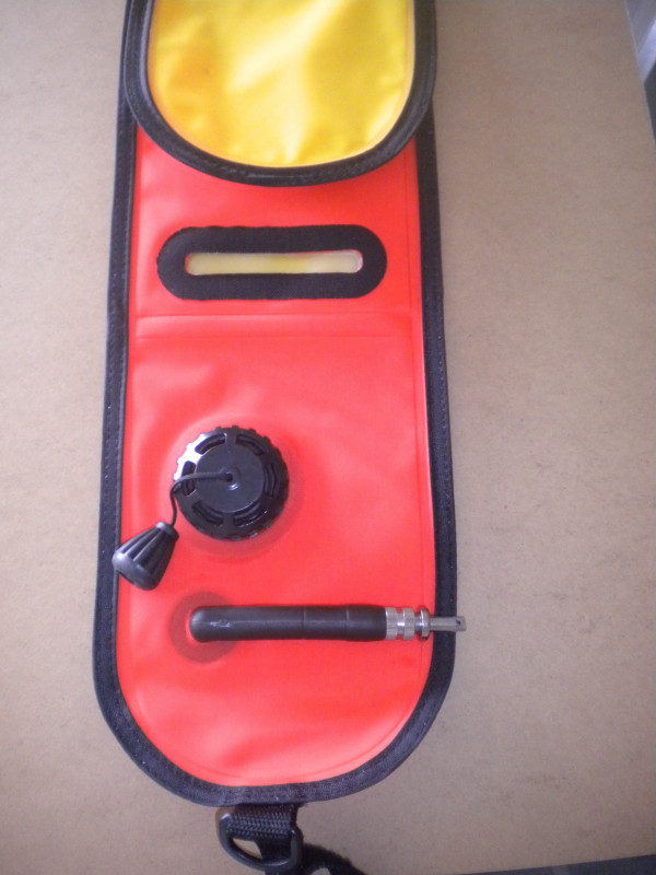"6 Foot / 72"" Inch Orange/Yellow Smb Closed Type w/ Light Insert Pocket for Night Diving! - Product Image"