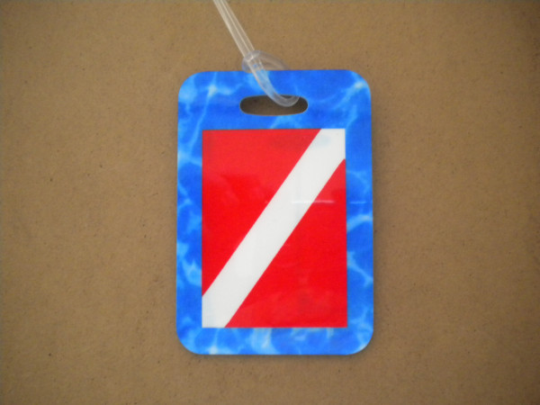"""Dive Flag Luggage Tag   """"One Tag Price"""" - Product Image"""