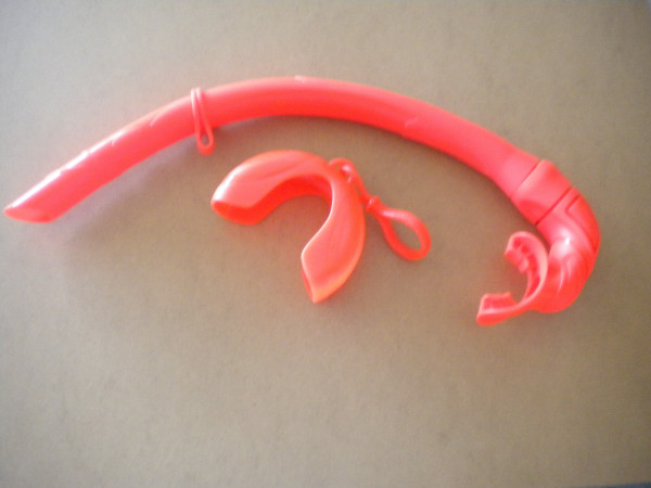 Piranha Dive Foldable Snorkel w/ Case Holder in Orange! - Product Image