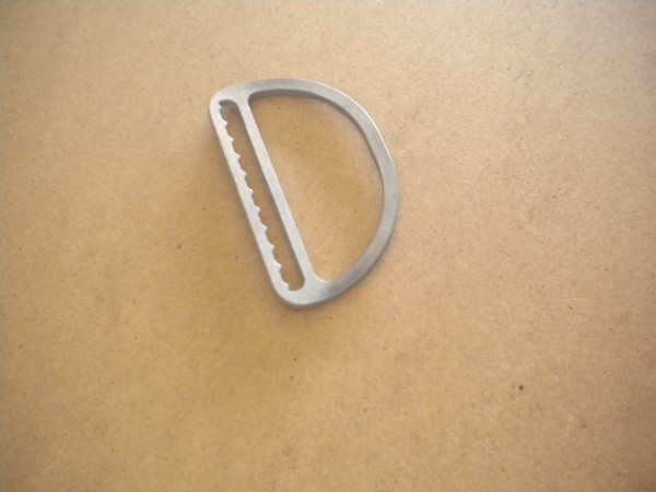 "Low Profile Slide Locking D-Ring ""Bent Design"" - Product Image"