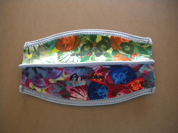"Neoprene Mask Strap Cover w/ Velcro Closure ""Hawaiian Print both sides"" "" 1 Only!""  - Product Image"