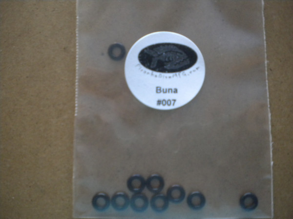 "#007 Buna 10 Pack O-Rings ""Regulator Piston Rings; Small HP Seals"" - Product Image"