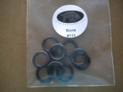 "#111 Buna 10 Pack O-Rings ""Small DIN Regulator/Valve/BC inflators/Australian/Nemrod Valves"" - Product Image"