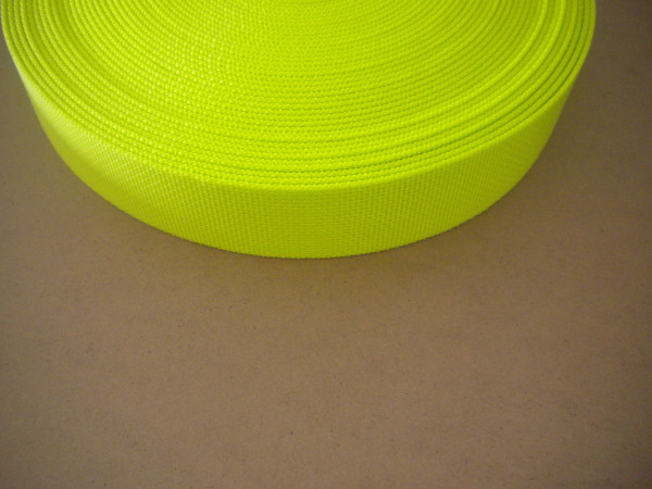 "2 Inch Nylon Webbing  High Vis Yellow ""Standard version"" - Product Image"
