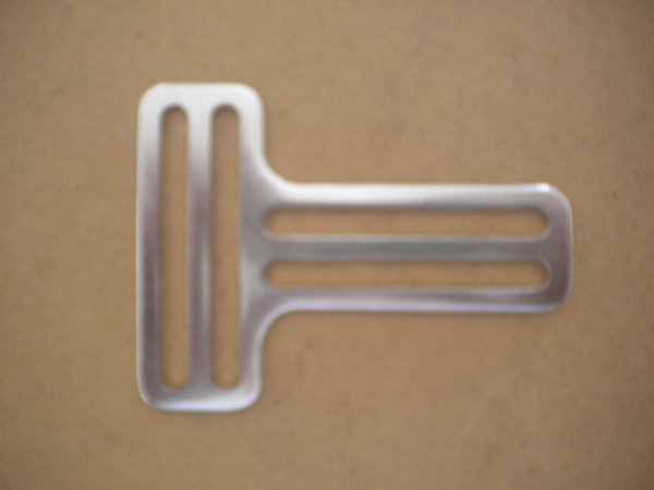 "New! 2"" inch Stainless Steel One Piece Stamped T Slider No Teeth - Product Image"