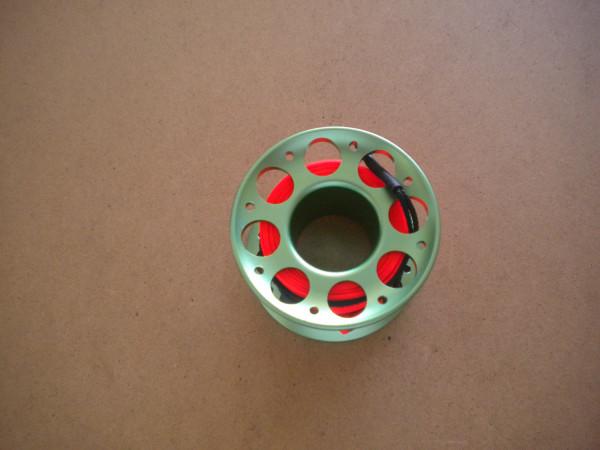 New! 50 Foot Green Aluminum Body Compact w/ Flat Line & High Viz ORANGE Flat line  - Product Image