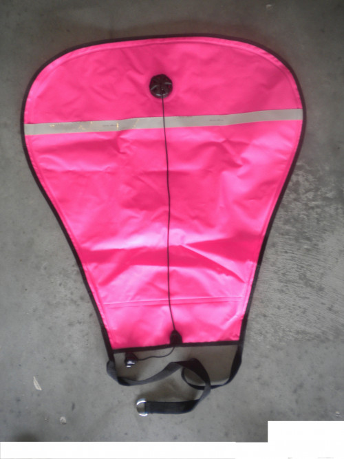 70Lb Liftbag w/Flapper valve open style in PINK w/ Reflective Tape! - Product Image