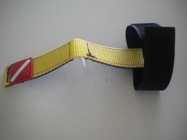 """New Item! Mask / Hose Keeper """"Yellow Webbing"""" - Product Image"""