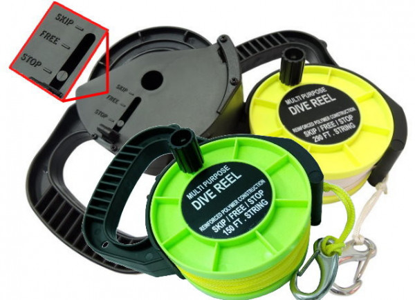 "290' Recreational Reel w/ Yellow Line! ""Green Body"" - Product Image"