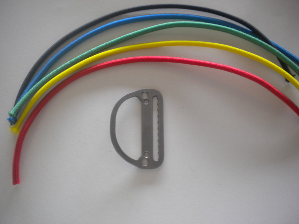 Low Profile Slide Locking D-Ring Bent / Angled Design w/ Bungee Included Your Choice! - Product Image