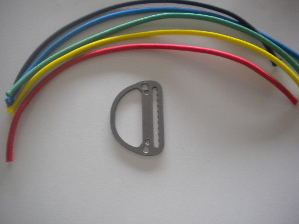 New Low Profile Slide Locking D-Ring Flat Design w/ Bungee Included Your Choice! - Product Image