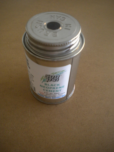 500 PSI Neoprene Black Cement 4oz Bottle - Product Image