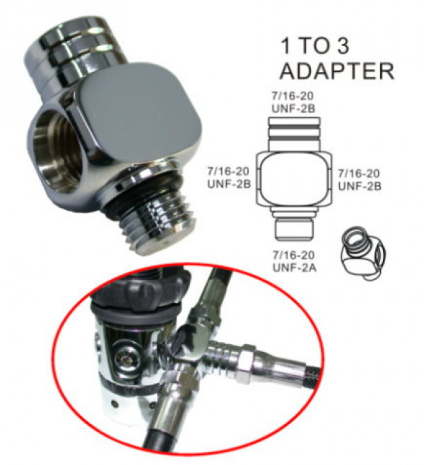 High Pressure 3 way Adapter - Product Image