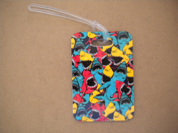 """Sharks Luggage Tag   """"One Tag Price"""" - Product Image"""