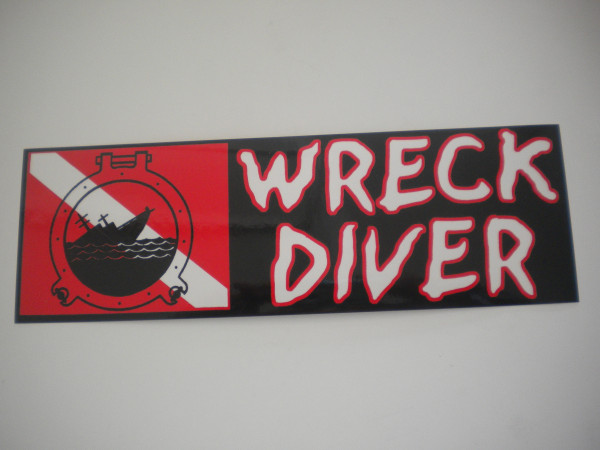 New Colors! Wreck Diver Decal - Product Image